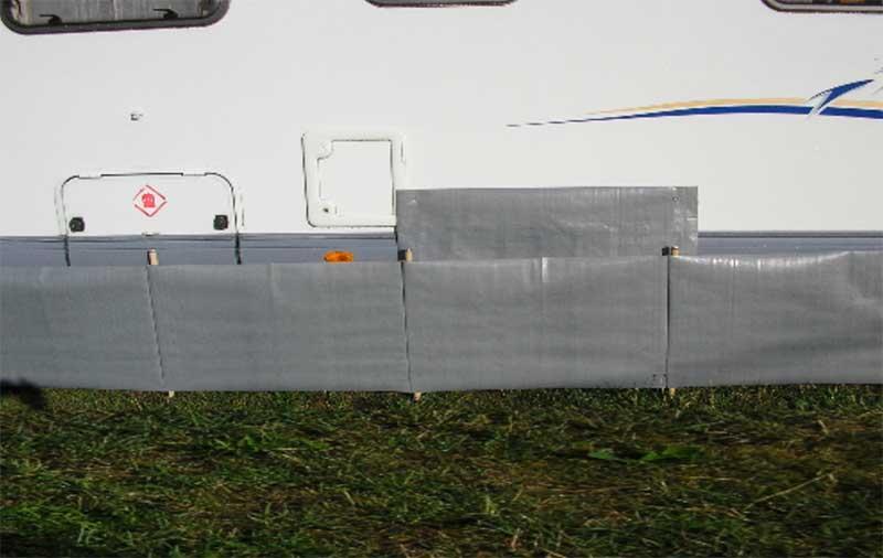 Draught skirts for motorhomes caravans - Cornish Windbreaks