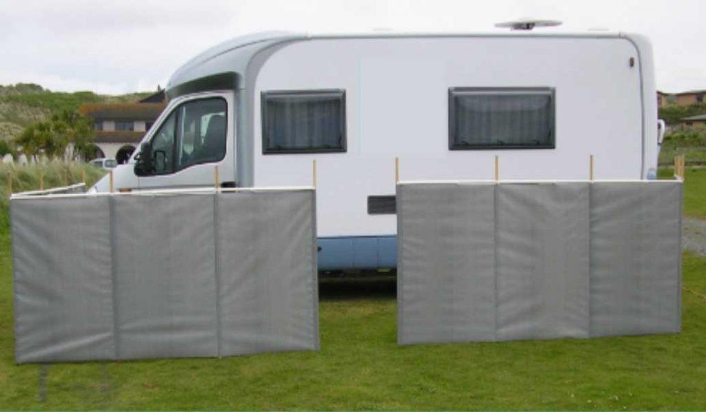 Windbreaks for motorhomes caravans - Cornish Windbreaks
